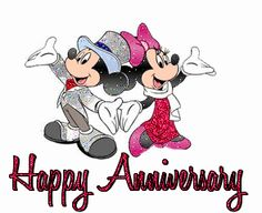Happy Anniversary Mickey and Minnie Happy Anniversary Clip Art, Happy Marriage Anniversary Quotes, Anniversary Wishes For Parents, Wedding Anniversary Wishes, Anniversary Greetings, Anniversary Pictures, Anniversary Meme, Mickey Mouse, Disney Mickey
