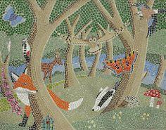 Mosaic (Sparky the Neon Cat) Tags: europe great britain united kingdom gb uk england north yorkshire saltburn saltburnbythesea valley woodland centre gardens mosaic helen jane gaunt derek mosey fox foxglove badger butterfly deer bird owl