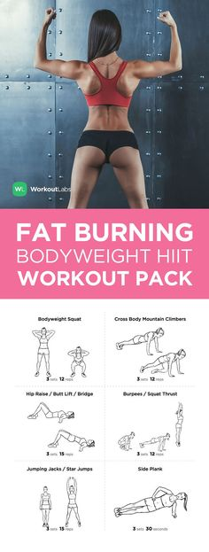 Fat Burning Metabolic Master Bodyweight HIIT Visual Workout Pack. Download at https://workoutlabs.com/s/TnIbe