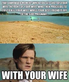 Funny pictures about Doctor Who Madness. Oh, and cool pics about Doctor Who Madness. Also, Doctor Who Madness. Dr Who, Time Lords, Fandoms, Serie Doctor, Doctor Who Funny, Funny Doctor Memes, Strange Places, Get Shot, Bad Wolf