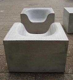 Outdoor Furniture to Compliment Your Indoor Furniture Concrete Cement, Concrete Furniture, Concrete Crafts, Concrete Design, Urban Furniture, Street Furniture, Concrete Countertops, Ikea Furniture, Garden Furniture