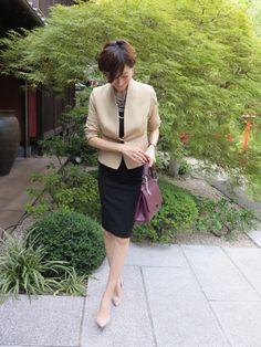 {676D48FC-4A52-4021-9FA4-C3E93FA03997:01} Office Fashion, Business Fashion, Work Fashion, Japanese Outfits, Japanese Fashion, Office Looks, Office Outfits, Party Fashion, Types Of Fashion Styles