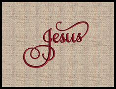 This is a machine embroidery design that says Jesus in 7 sizes. You must have an embroidery machine and the proper software to use this design.  Size: 1.83 x 1.28 inches 3.67 x 2.57 inches 3.90 x 2.72 inches 4.90 x 3.97 inches 5.61 x 3.97 inches 6.90 x 4.65 inches 7.28 x 4.90 inches  This design is in the following formats. PES ~ DST ~ EXP ~ JEF ~ PCS ~ HUS ~ PES ~ SEW ~ SHV ~ VIP ~ VP3 ~ XXX   Due to the digital nature of our business, we do not offer refunds for designs received. All…