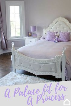 A palace fit for a princess is what your daughter needs. Style her room with her favorite colors so the space is glitzy and glamorous for the ultimate girly girl. Her room will feel like a fairy tale dream come true!