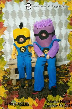 Boo to you from our crew - DYI Minion Costumes Made