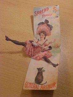 vintage 1899 General Arthur Cigar Ad Card Fold by VintageAudioPlus, $49.95