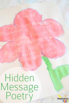 get excited about poetry --> Hidden Message Poetry!