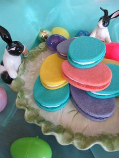 Vibrant Easter Egg Sandwich Cookies