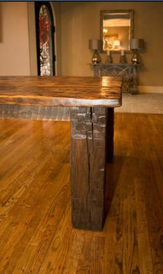 Reclaimed wood tabled by BandRDesign on Etsy