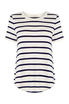 Oasis Tops for Women Autumn Clothes, White Caps, Dress First, Striped Tee, Latest Fashion For Women, Tees, Shirts, Floral Tops, T Shirts
