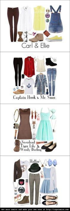 Wendy, Captain Hook, Mr. Smee, Carl and DEFINITELY Ellie!!!
