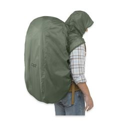 This waterproof pack cover with an integrated hood will provide great rain protection for your head, shoulders, and your gear on the rainy climbing day. Pack Hoody - Outdoor Research Backpacking Gear, Camping And Hiking, Camping Survival, Hiking Gear, Outdoor Survival, Hiking Backpack, Tent Camping, Survival Gear, Camping Gear