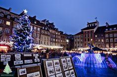 Świąteczna choinka na Starówce Warszawskiej 2012,