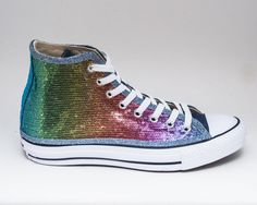 fdbc38ce0 Rainbow Over Navy Starlight Sequin Converse® Hi Tops