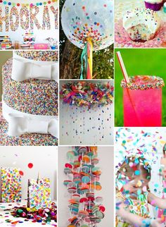 Confetti Party -- Beyond Usual Rainbow Party Ideas ♥♥♥. The sprinkle cake 3rd Birthday Parties, Birthday Fun, Second Birthday Ideas, Sprinkle Party, Sprinkle Shower, Polka Dot Party, Rainbow Parties, Rainbow Birthday, Art Party