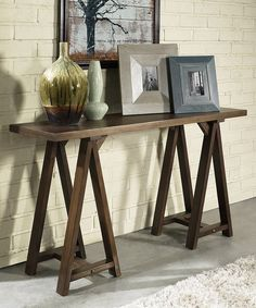 Look at this Sawhorse Console Table on #zulily today!