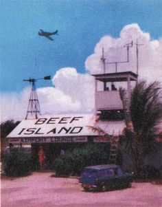 Beef Island Airport in the 1960's