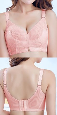 US$11.64 Sexy Lightly Lined Gather Wireless Breathable Embroidered Bras