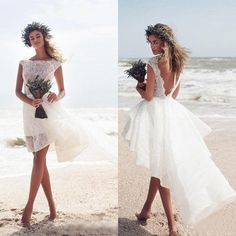I found some amazing stuff, open it to learn more! Don't wait:https://m.dhgate.com/product/modest-2017-ivory-lace-short-beach-wedding/396127770.html