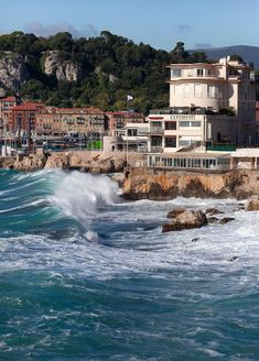 Crashing Waves, Nice France, Provence, Mansions, House Styles, Landscapes, Photography, Travel, Lion