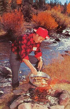 Frying trout on the river....NOTHING BETTER