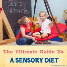 The ultimate guide to a sensory diet is a complete guide of sensory diet ideas to try with your kiddos who struggle with Sensory Processing Disorder.