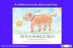 A children's book about pet loss and grieving.