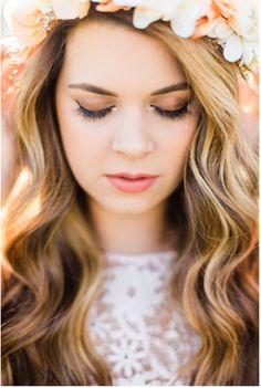 Pretty flower crown portrait
