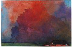 Emil Nolde (1867 - 1956) Bauernhof unter Gewitterwolken. Um 1935