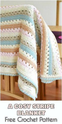 A Cozy Stripe Blanket - Free Crochet Pattern