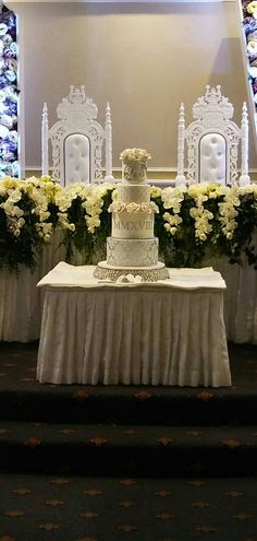 Ibrahim and Sadaf's Wedding Cake