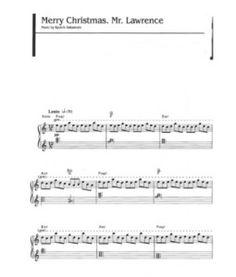partition piano furyo