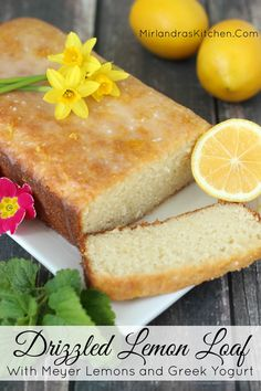 This drizzled lemon loaf is about as simple as baking gets!  It has a sweet lemon flavor topped with a sweet-tart drizzle.  Even the crumbs will disappear.