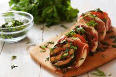 Zucchini + Prosciutto Caprese! THE PERFECT SUMMER APPETIZER!