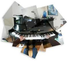 David Hockney photomontage of a person playing a piano David Hockney Photography, Photography Collage, Photography Ideas, David Hockney Collage, Creative Landscape, Photoshop, Principles Of Design, Cubism, Digital Collage