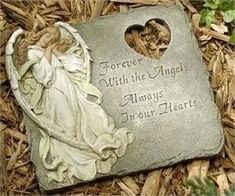Forever with the Angels Memorial Stepping Stone. $34.99 + FREE SHIPPING
