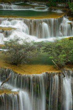 Waterfall Huai Mae Kamin in Kanchanaburi,Thailand