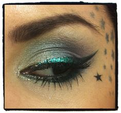 My new love is colored eye liner. Can't wait to take another trip to Sephora.