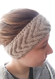 A quick and warm headband or earwarmer knit flat with worsted weight yarn on US 7 needles. It incorporates a simple cabled pattern repeated to achieve a continuous look.
