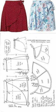 Skirt Patterns Sewing, Sewing Patterns Free, Clothing Patterns, Skirt Sewing, Coat Patterns, Blouse Patterns, Pattern Sewing, Fashion Patterns, Free Pattern