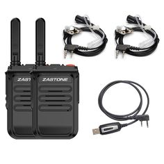 Zastone Two-Way Radios with Earpiece 16 Channel UHF Rechargeable Long Range Walkie Talikes Ham Radio, Walkie Talkie, Radios, Charger, Packing, Range, Bag Packaging, Ranges
