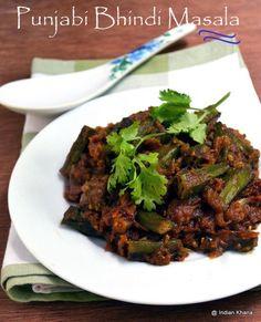 Punjabi Bhindi Masala Recipe | Okra Recipes ~ Indian Khana