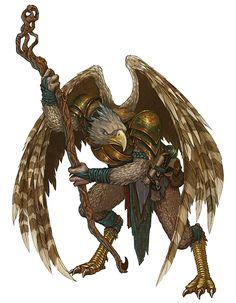 Dungeons and Dragons - Aarakocra Sorcerer by LeeSmith