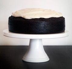 Dark Chocolate Guinness Cake With Bailey's Irish Cream Cheese Icing