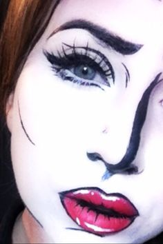 Creating Comic/Pop Art Inspired make-up looking on myself...