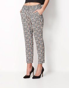 Bershka Egypt online fashion for women and men - Buy the lastest trends Baggy Trousers, Ethnic Print, Camouflage, Pants For Women, Capri Pants, Pajama Pants, Spring Summer, Style Inspiration, My Style
