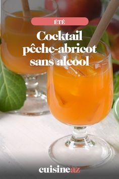 Une recette de boisson sans alcool facile et rapide: le cocktail pêche-abricot. #recette#cuisine#cocktail#boisson #peche #abricot #fruit #sansalcool #cocktailsansalcool Sangria, Drinking, Alcoholic Drinks, Cooking, Tableware, Party, Desserts, Fiestas, Smoothie