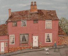 Lucy Grossmith House Illustration, Illustrations, Illustration Pictures, House Painting, Painting & Drawing, Naive Art, Beautiful Paintings, Artist At Work, Art Pictures