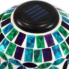 Mosaic Designs, Mosaic Patterns, Mosaic Glass, Mosaic Tiles, Tile Art, Thing 1, Mosaic Garden, Solar Lights, Light Decorations