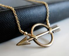Small Gold Or Silver Arrow Necklace / Simple by VerseJewelry, $25.00 #hungergames